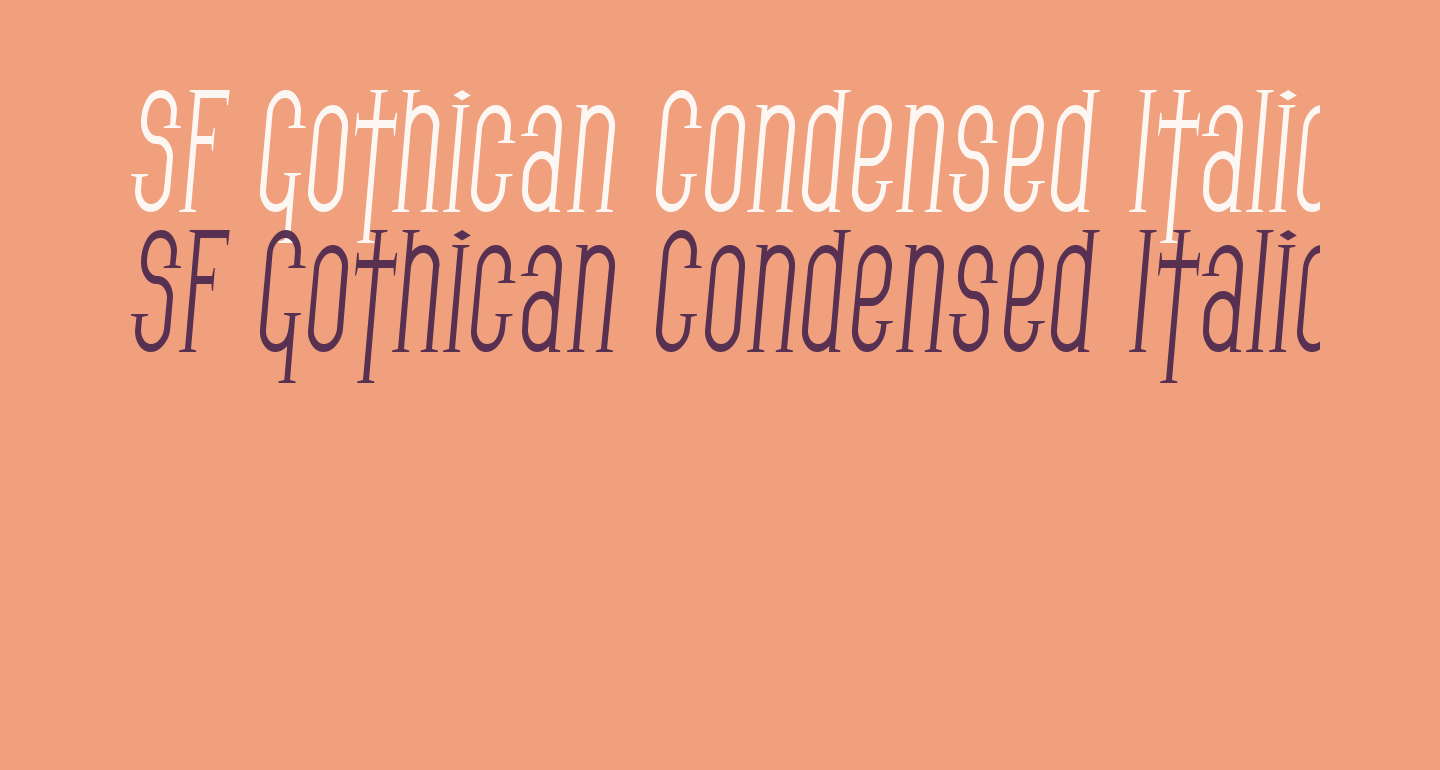 SF Gothican Condensed Italic
