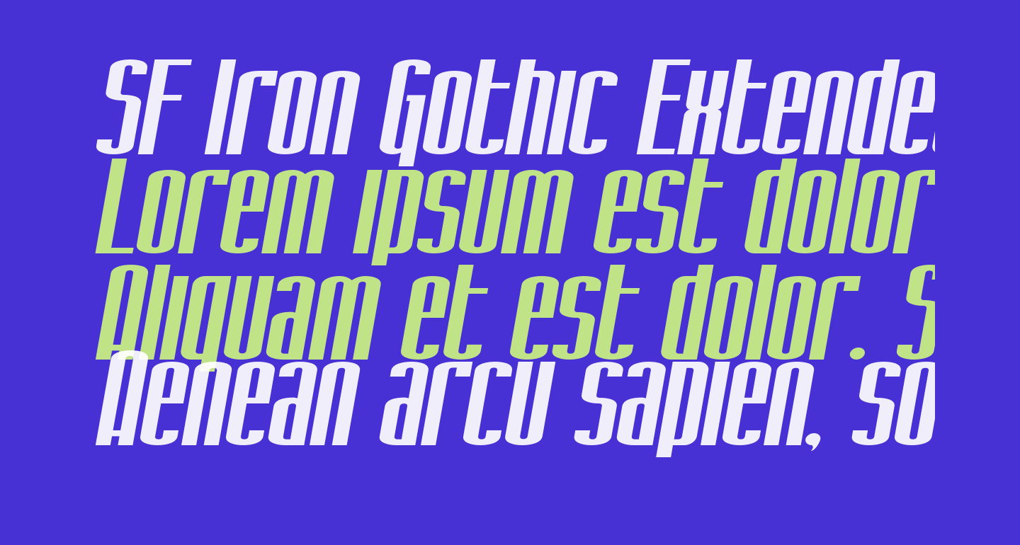 SF Iron Gothic Extended Oblique