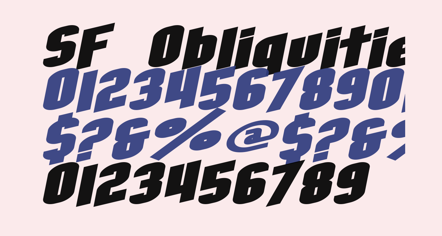 SF Obliquities Extended Bold