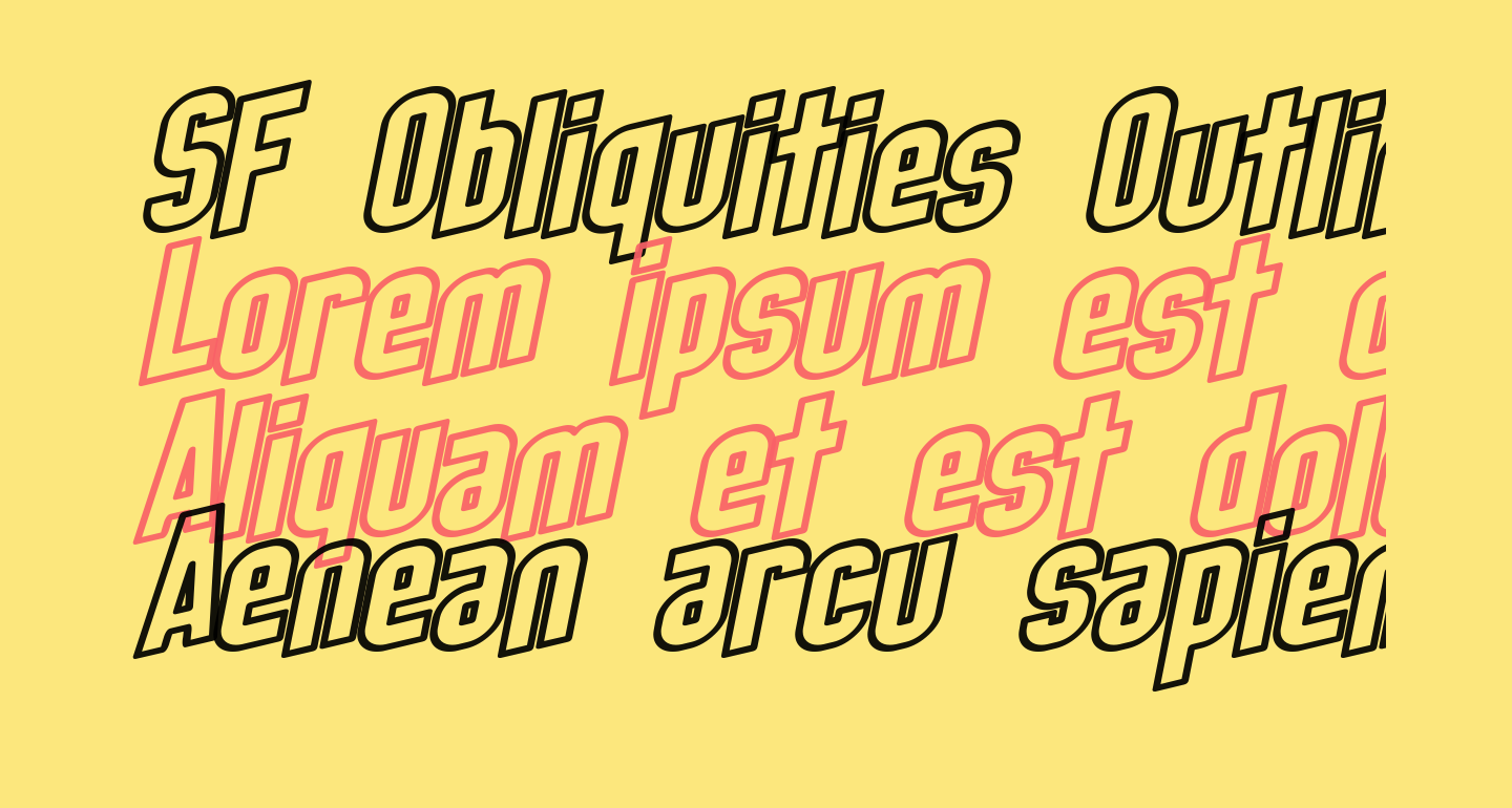 SF Obliquities Outline