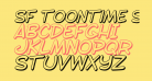 SF Toontime Shaded Italic