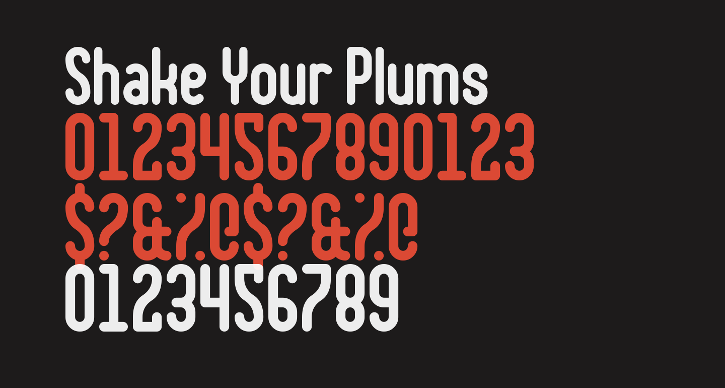 Shake Your Plums