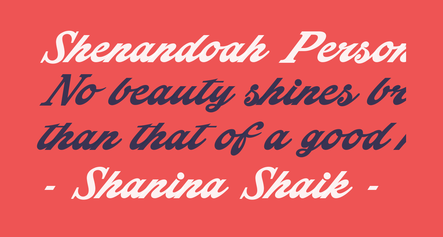 Shenandoah Personal Use Only