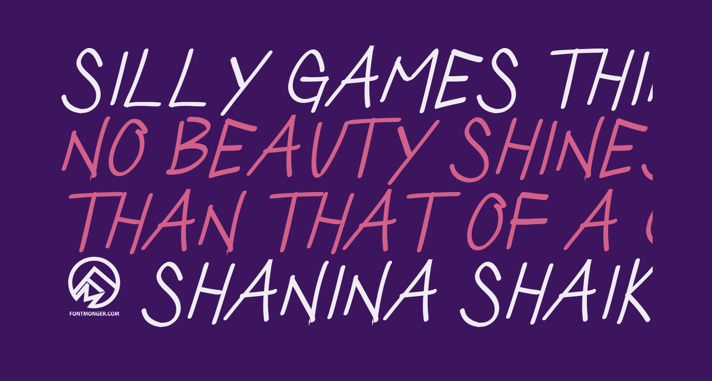 Silly Games Thin Italic