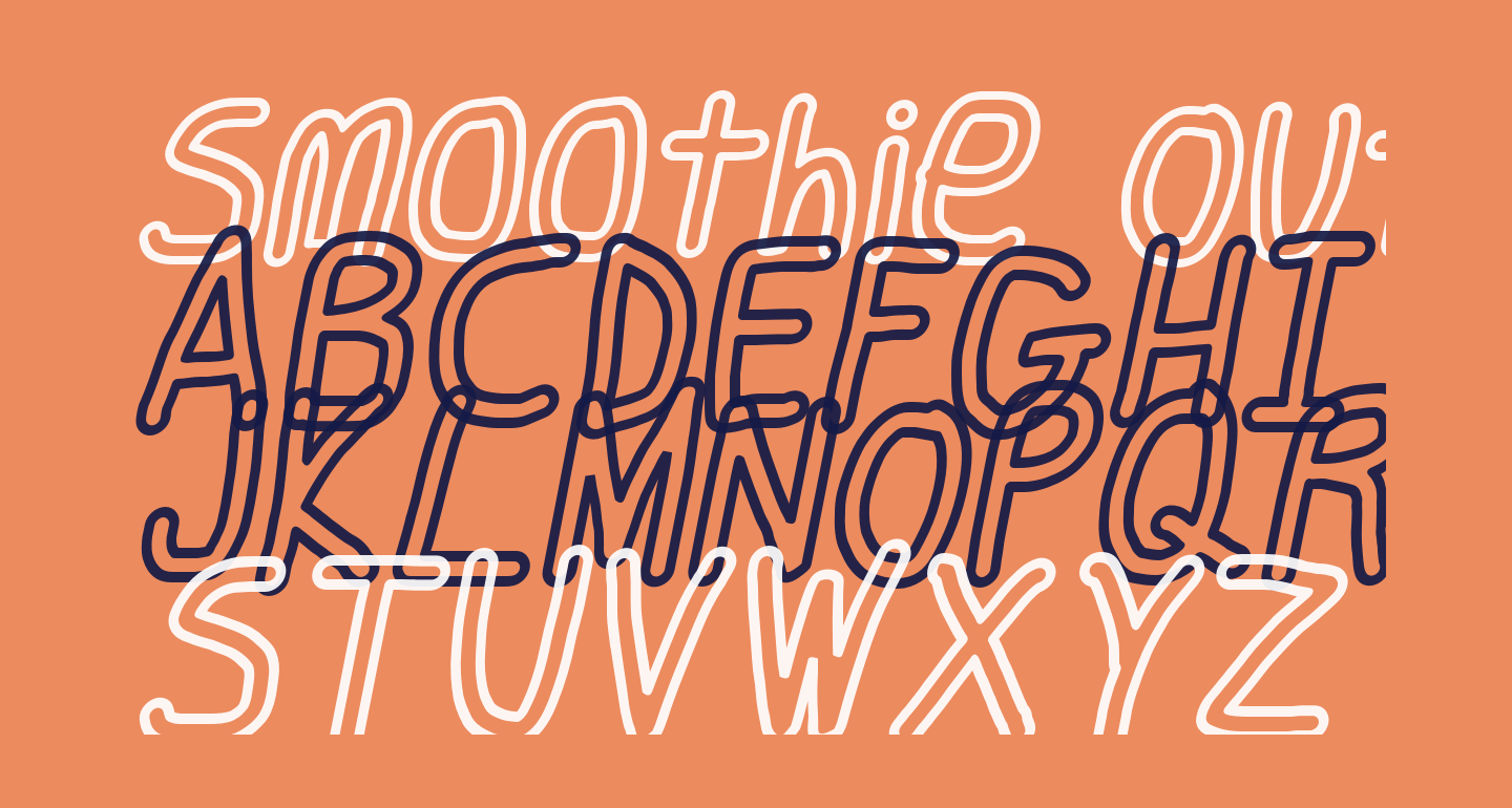 Smoothie Outline Italic