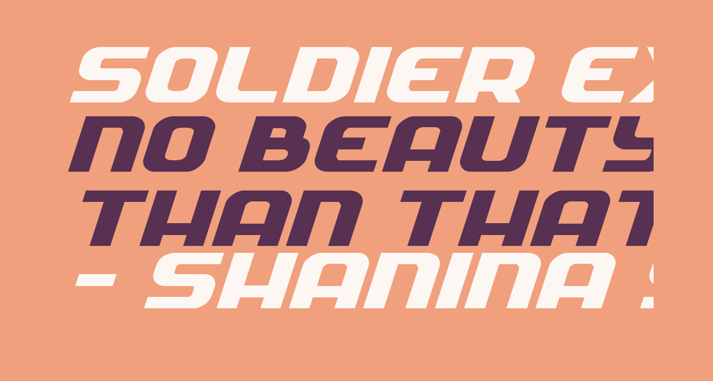 Soldier Expanded Italic