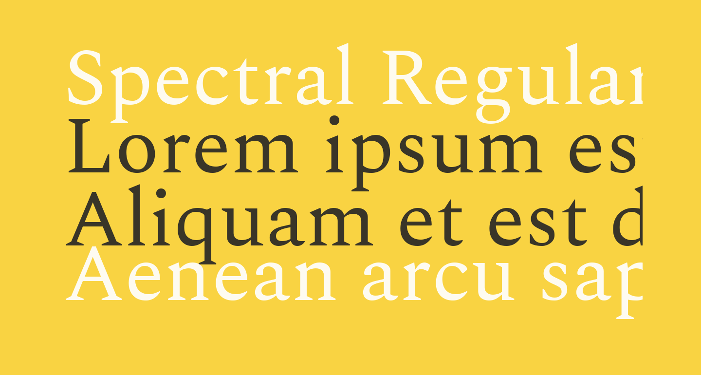 Spectral Regular