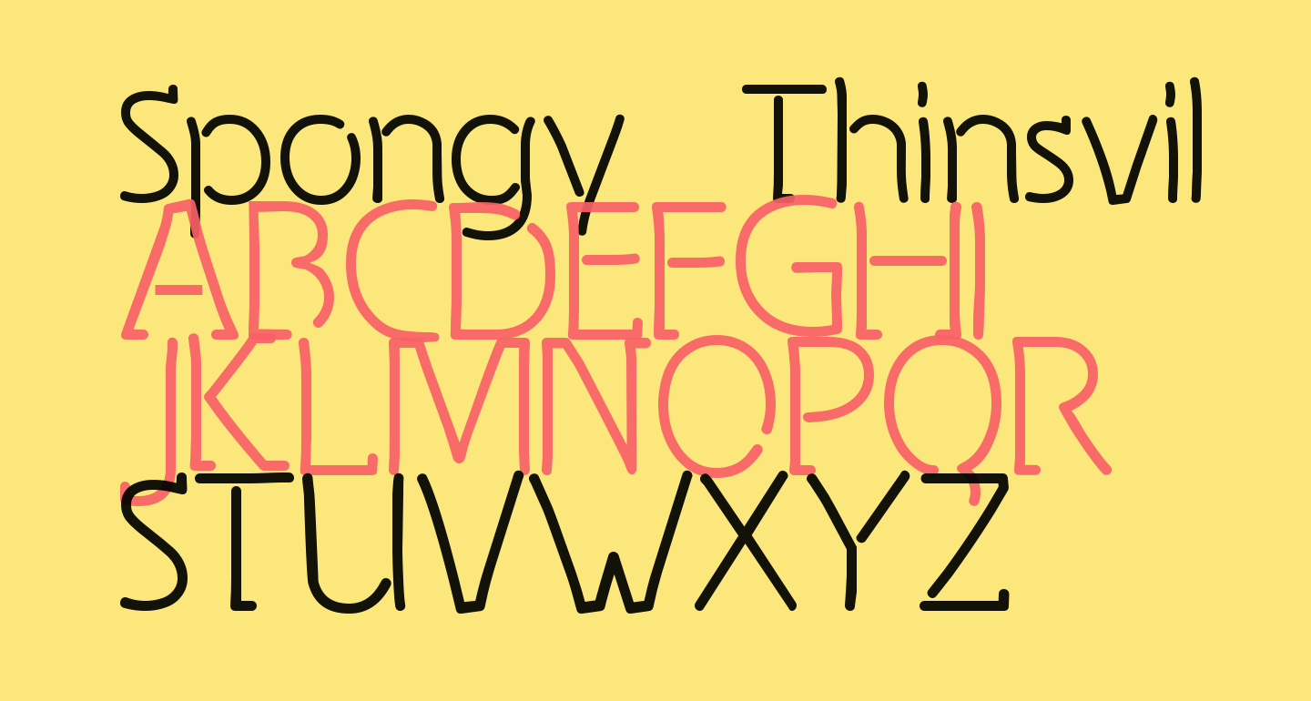 Spongy Thinsville