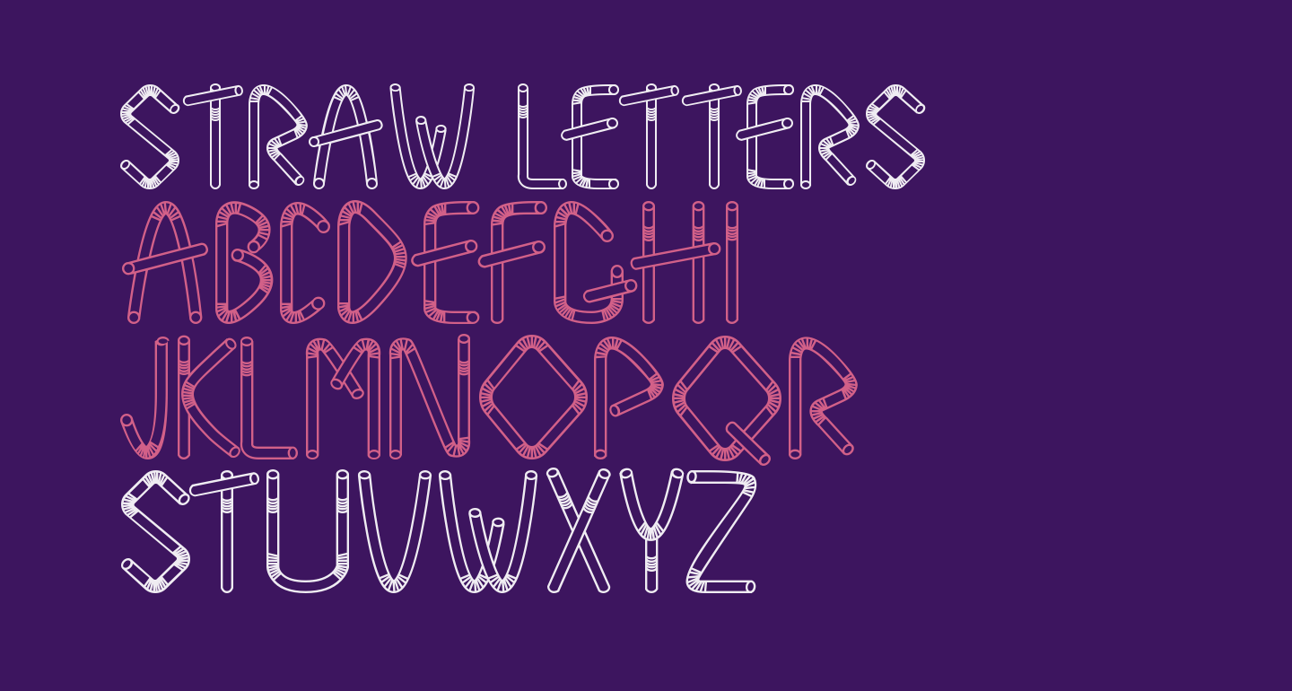 Straw Letters