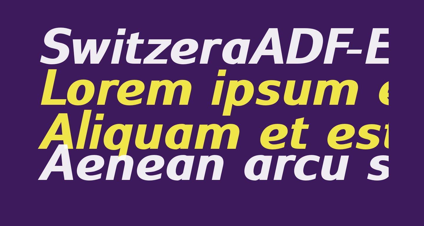 SwitzeraADF-ExtraBoldItalic
