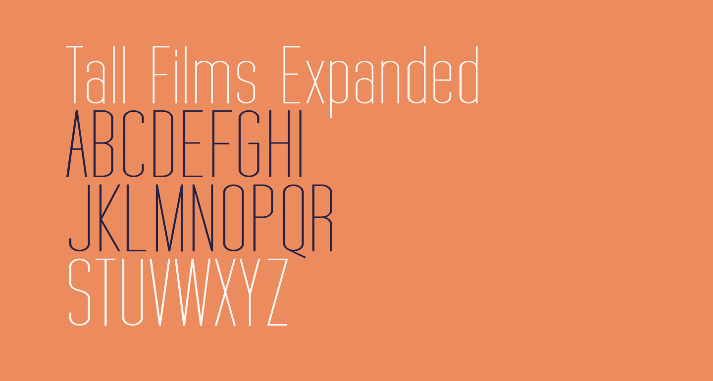 Tall Films Expanded