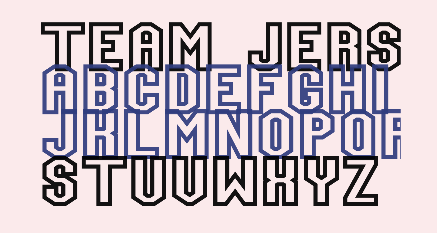 Team Jersey 95 Outline