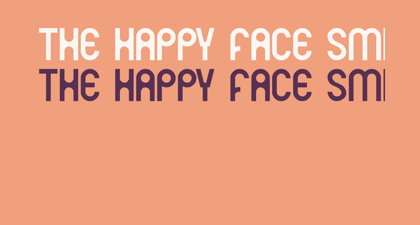 THE HAPPY FACE SMILE