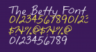 The Betty Font