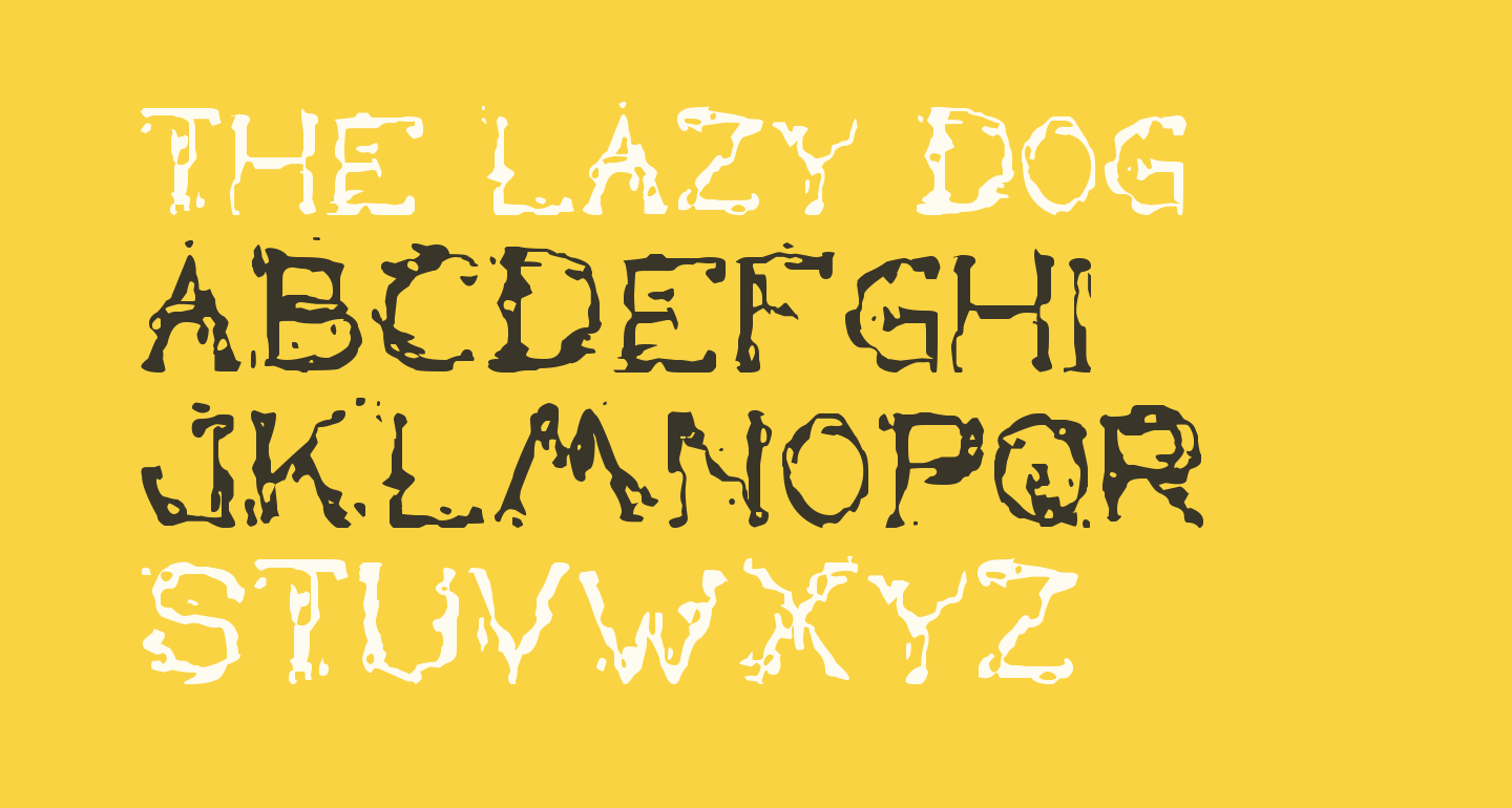 the lazy dog