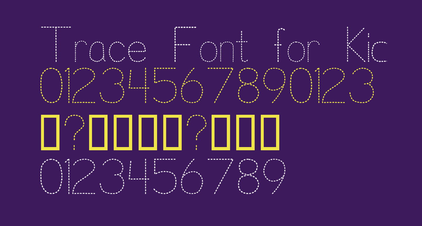 Trace Font for Kids