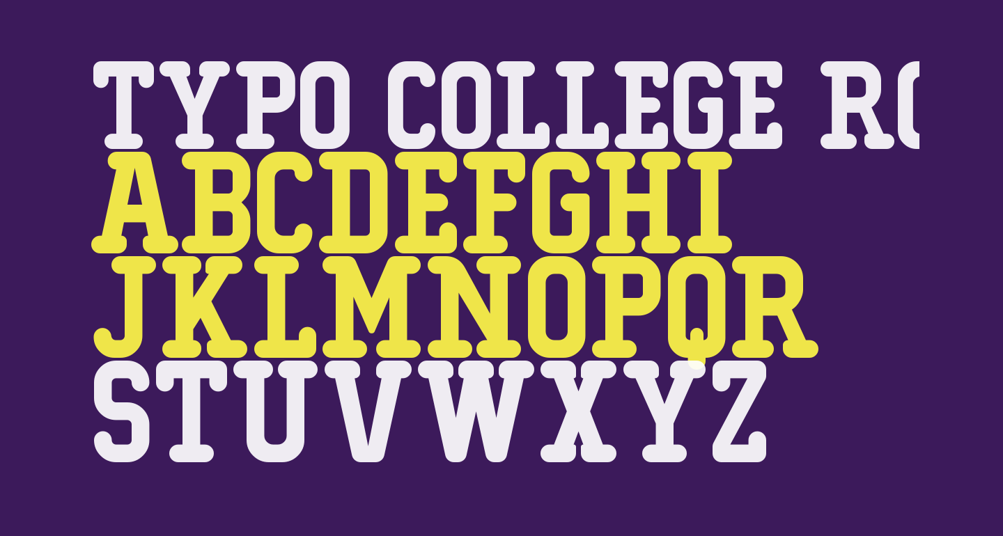 Typo College Rounded Demo