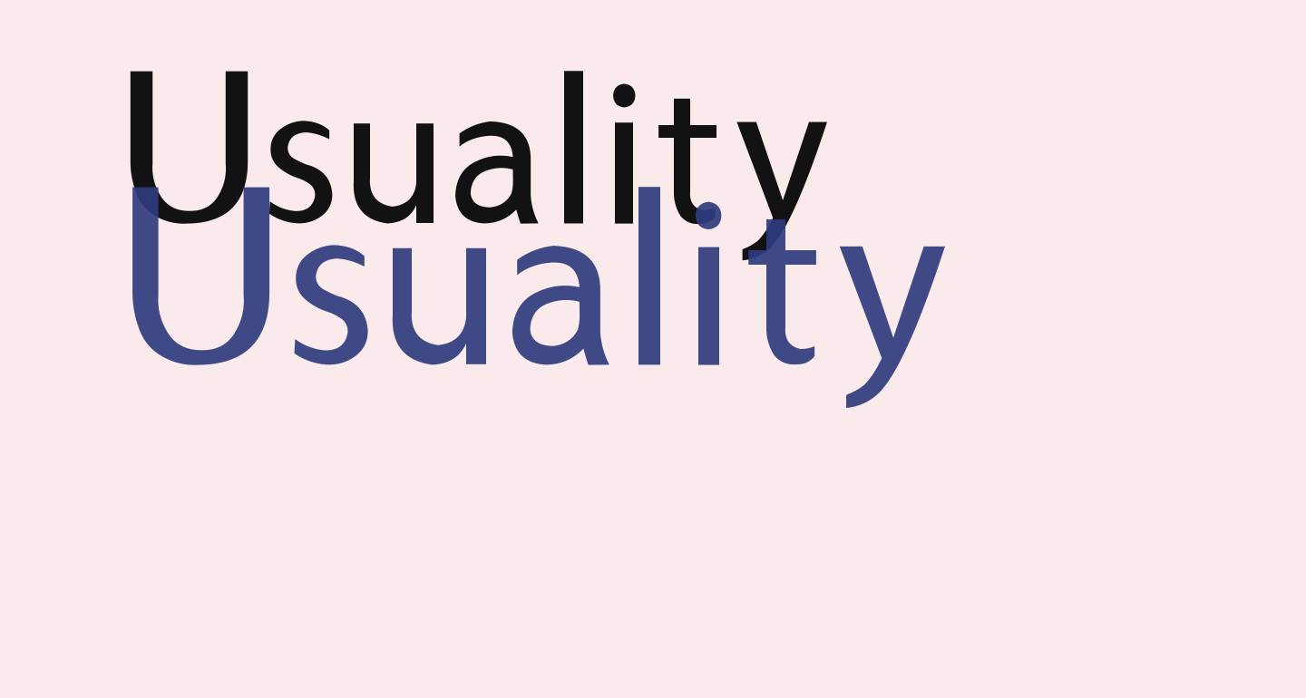 Usuality