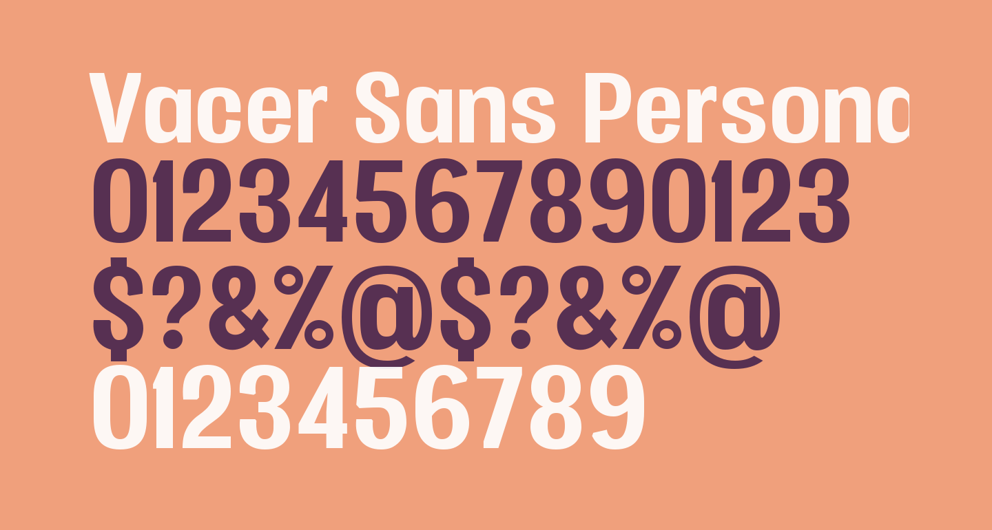 Vacer Sans Personal Bold