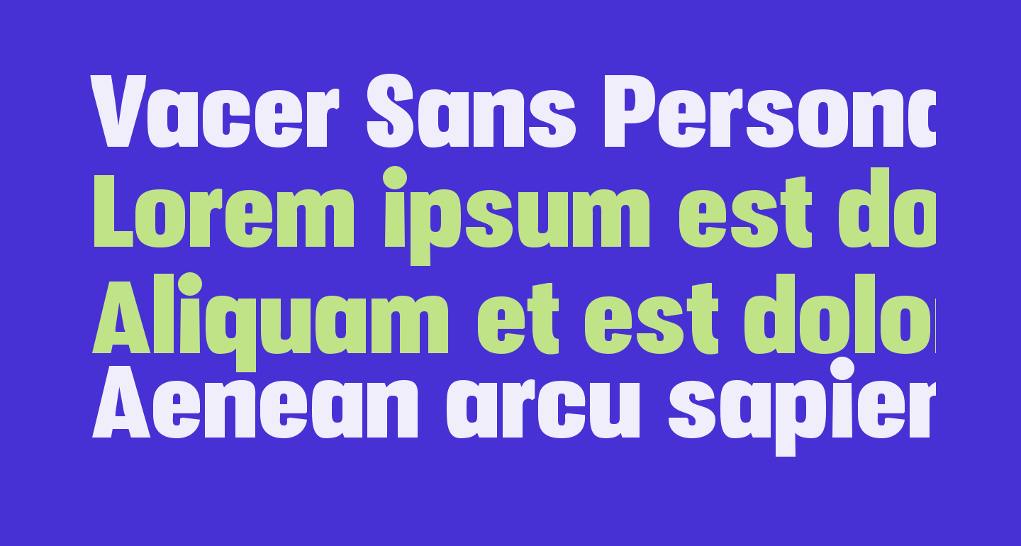 Vacer Sans Personal Fat