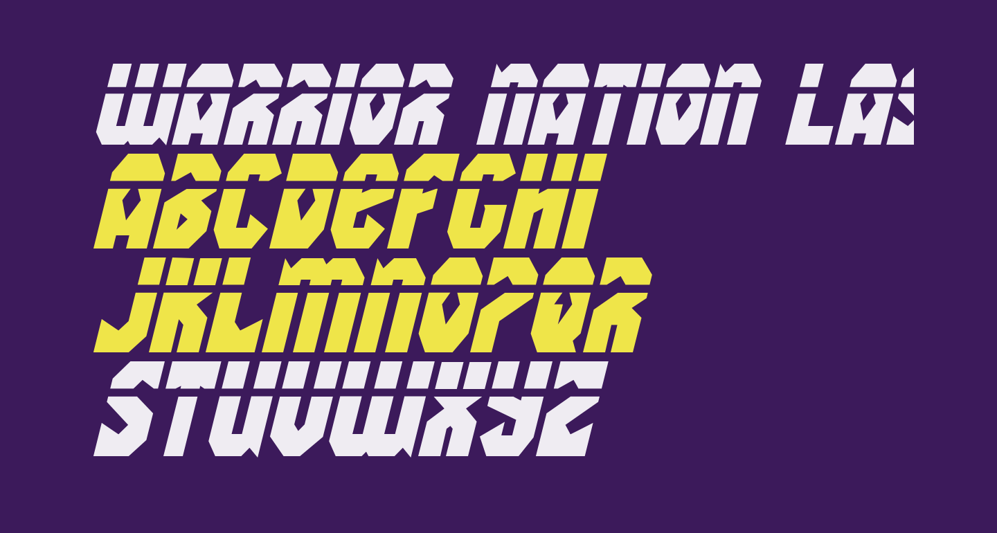 Warrior Nation Laser Italic