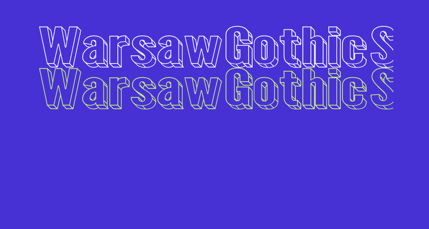 Warsaw Gothic SuperExtended 3D