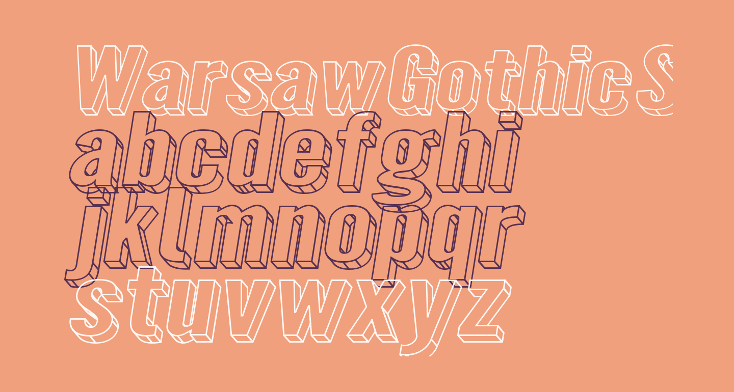 Warsaw Gothic SuperExtended Oblique 3D