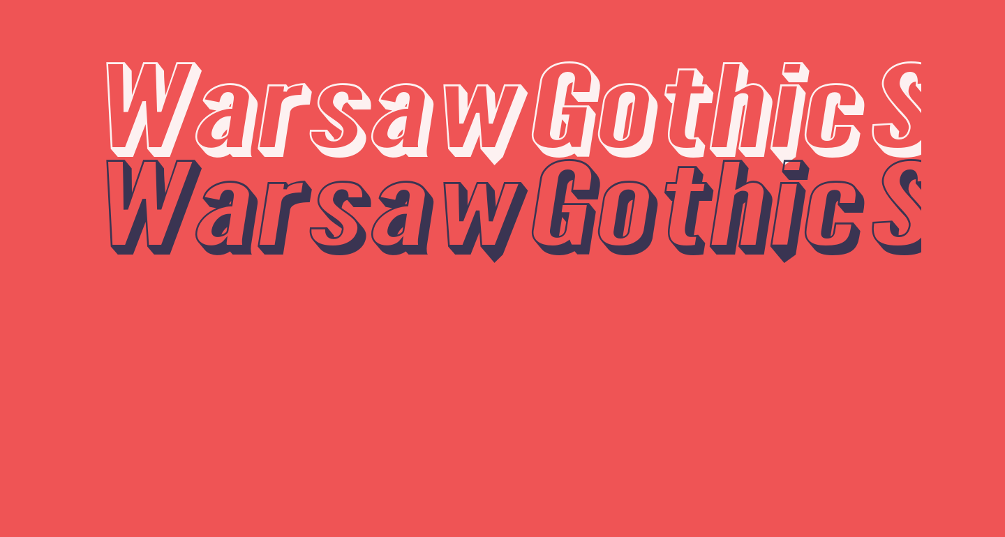 Warsaw Gothic SuperExtended Shadow Oblique