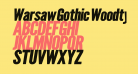 Warsaw Gothic Woodtype Oblique