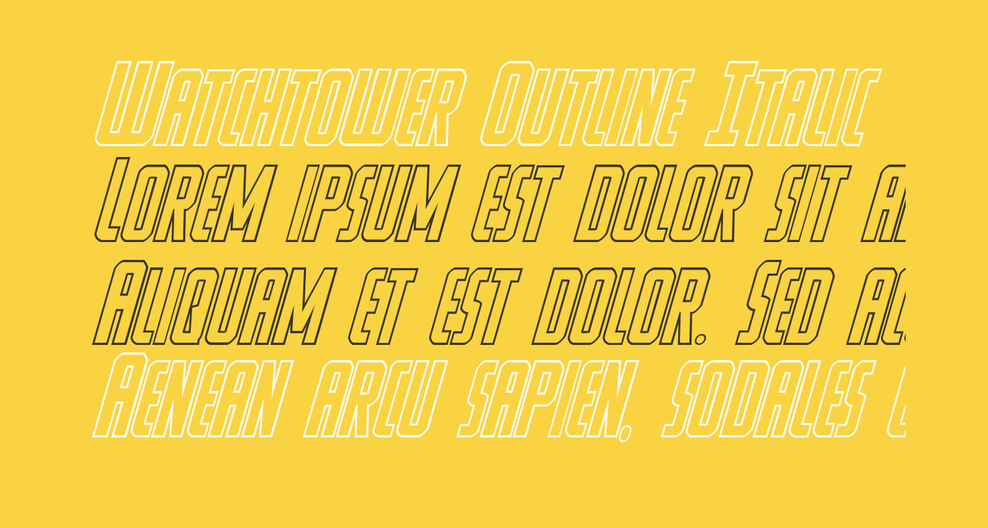 Watchtower Outline Italic