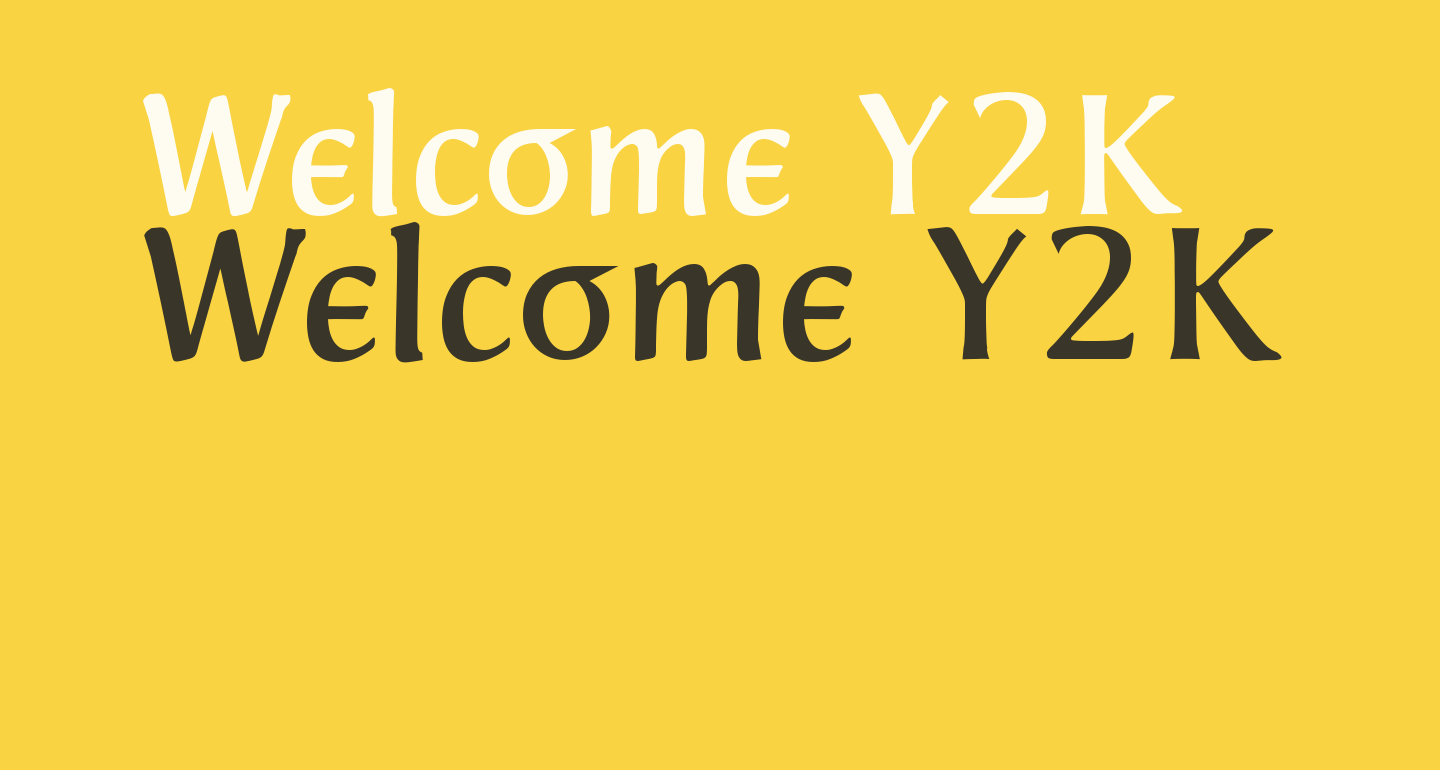 Welcome Y2K