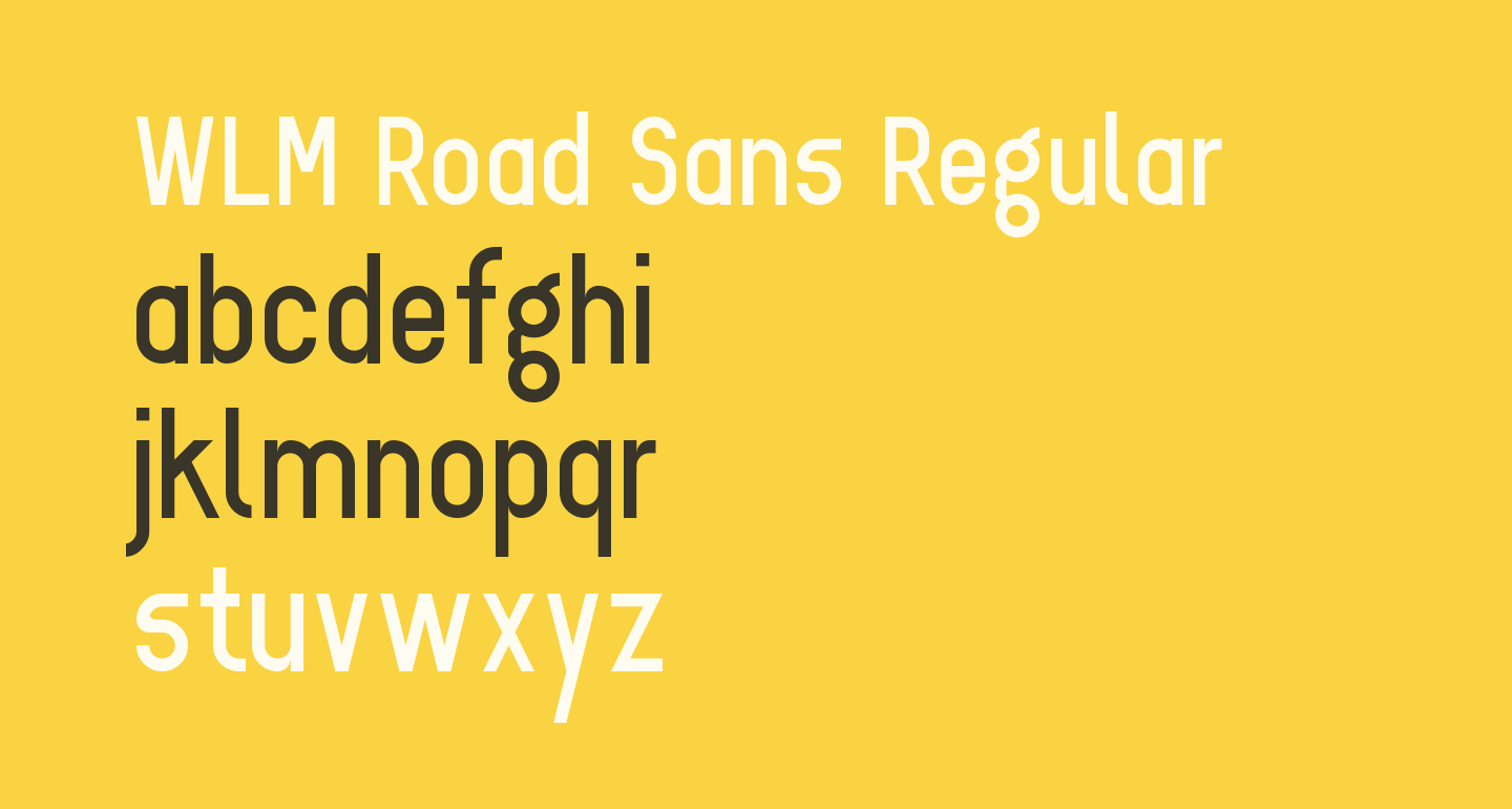 WLM Road Sans Regular
