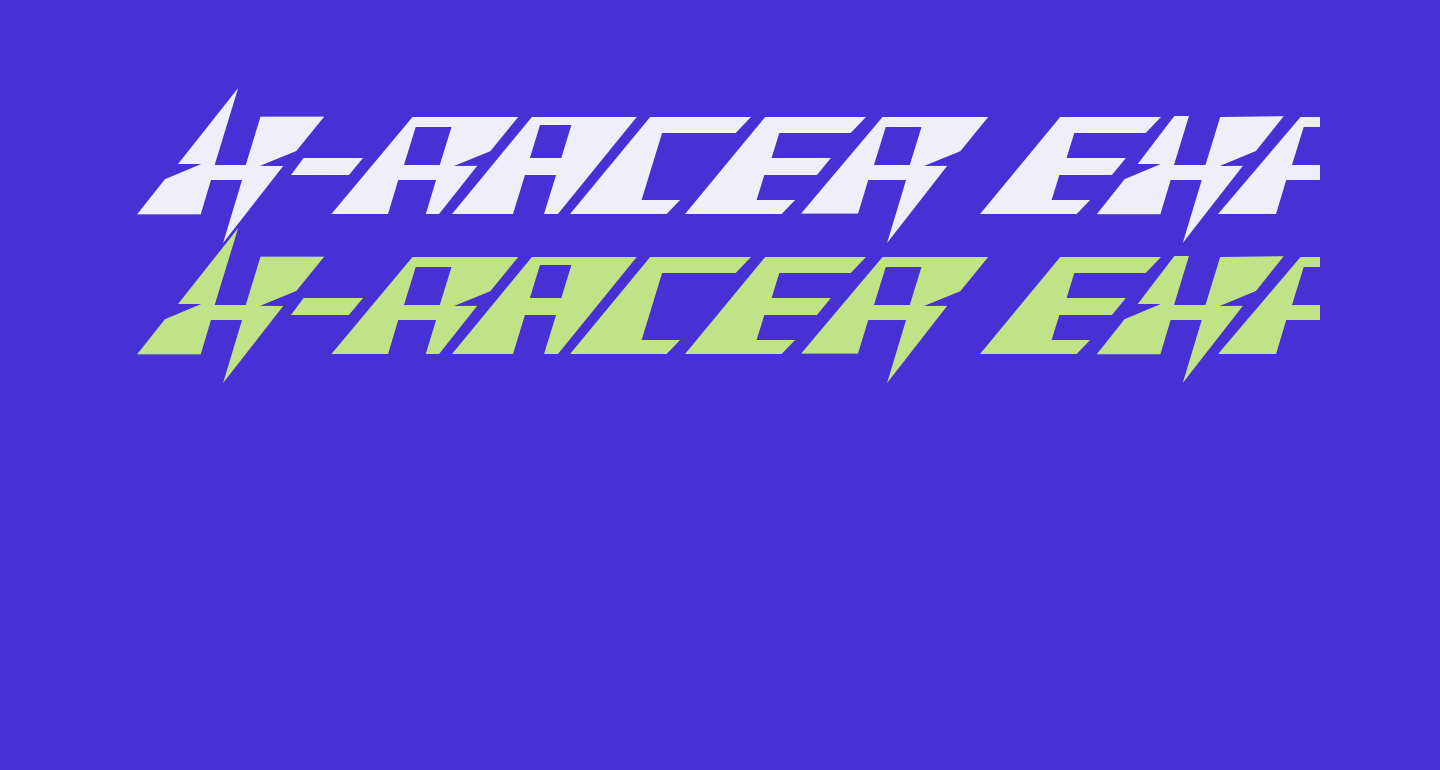 X-Racer Expanded Italic