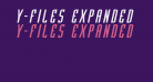 Y-Files Expanded Italic
