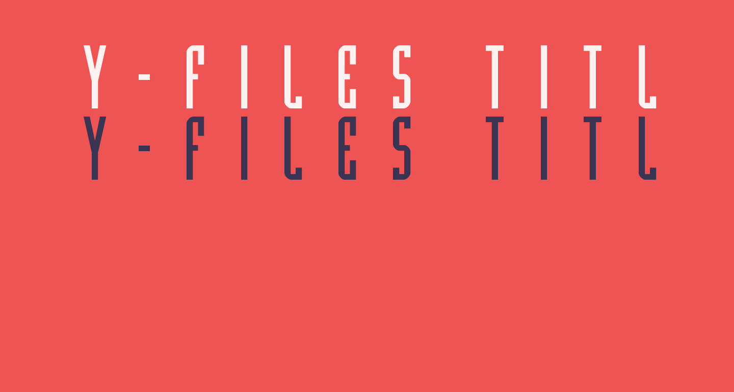 Y-Files Title