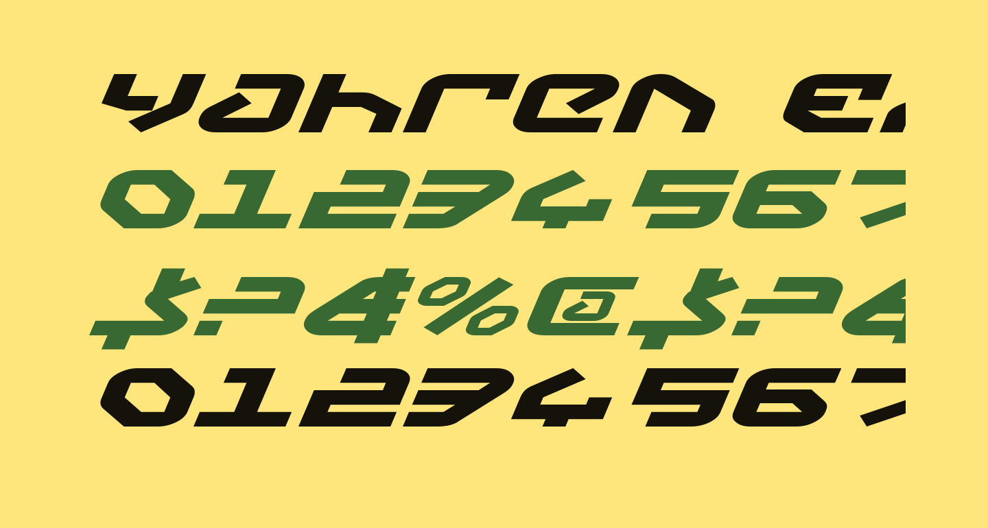 Yahren Expanded Italic