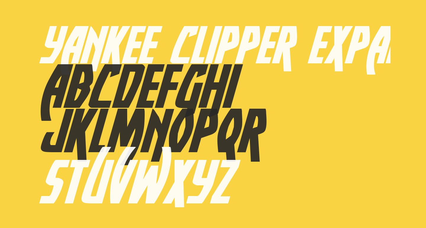 Yankee Clipper Expanded Italic