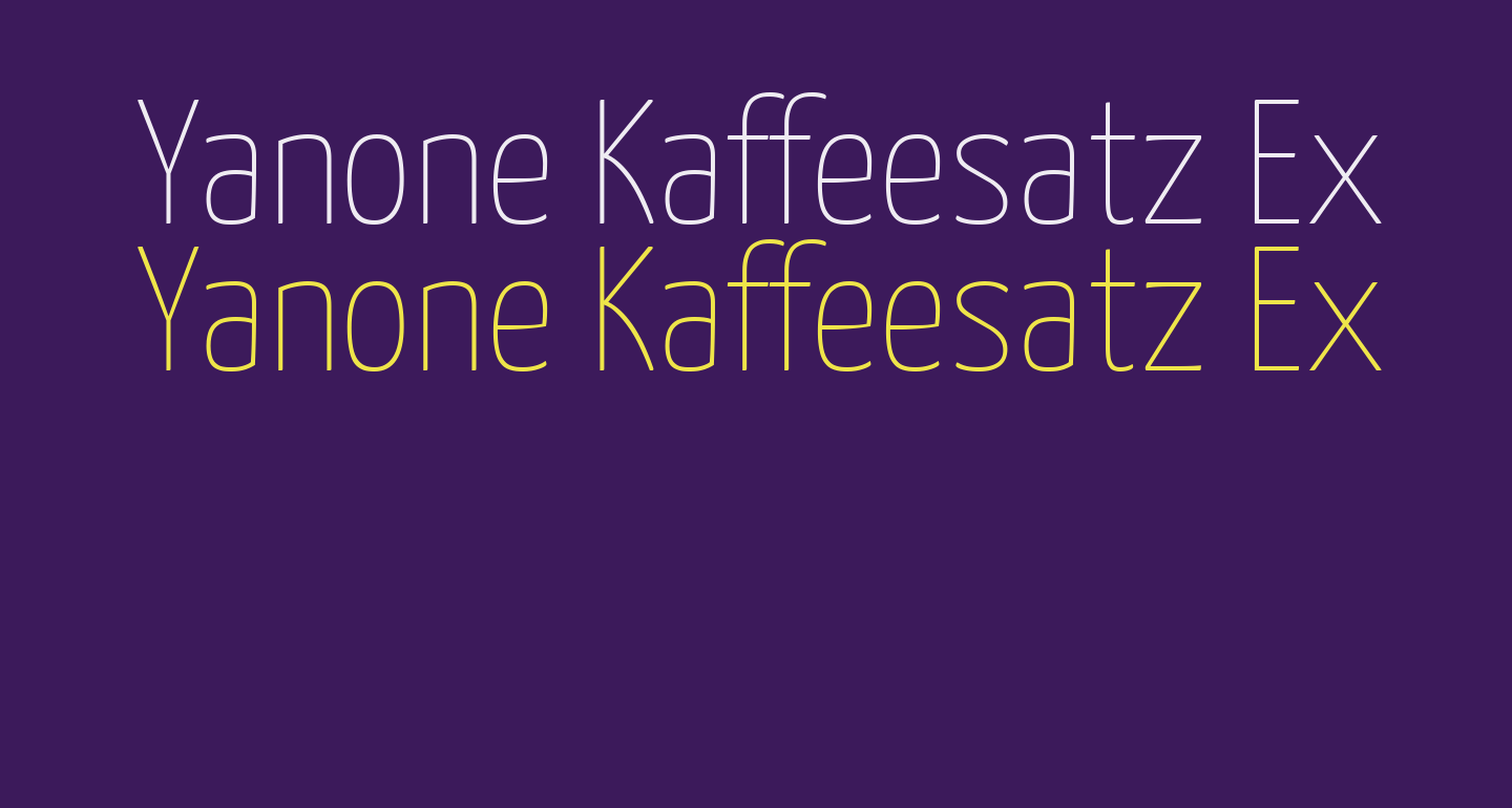 Yanone Kaffeesatz Extra Light