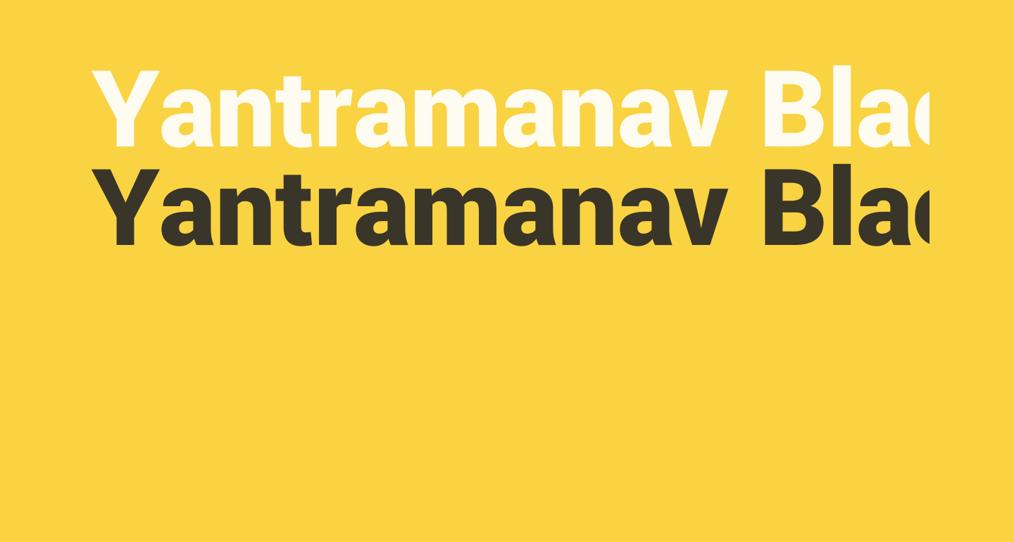 Yantramanav Black