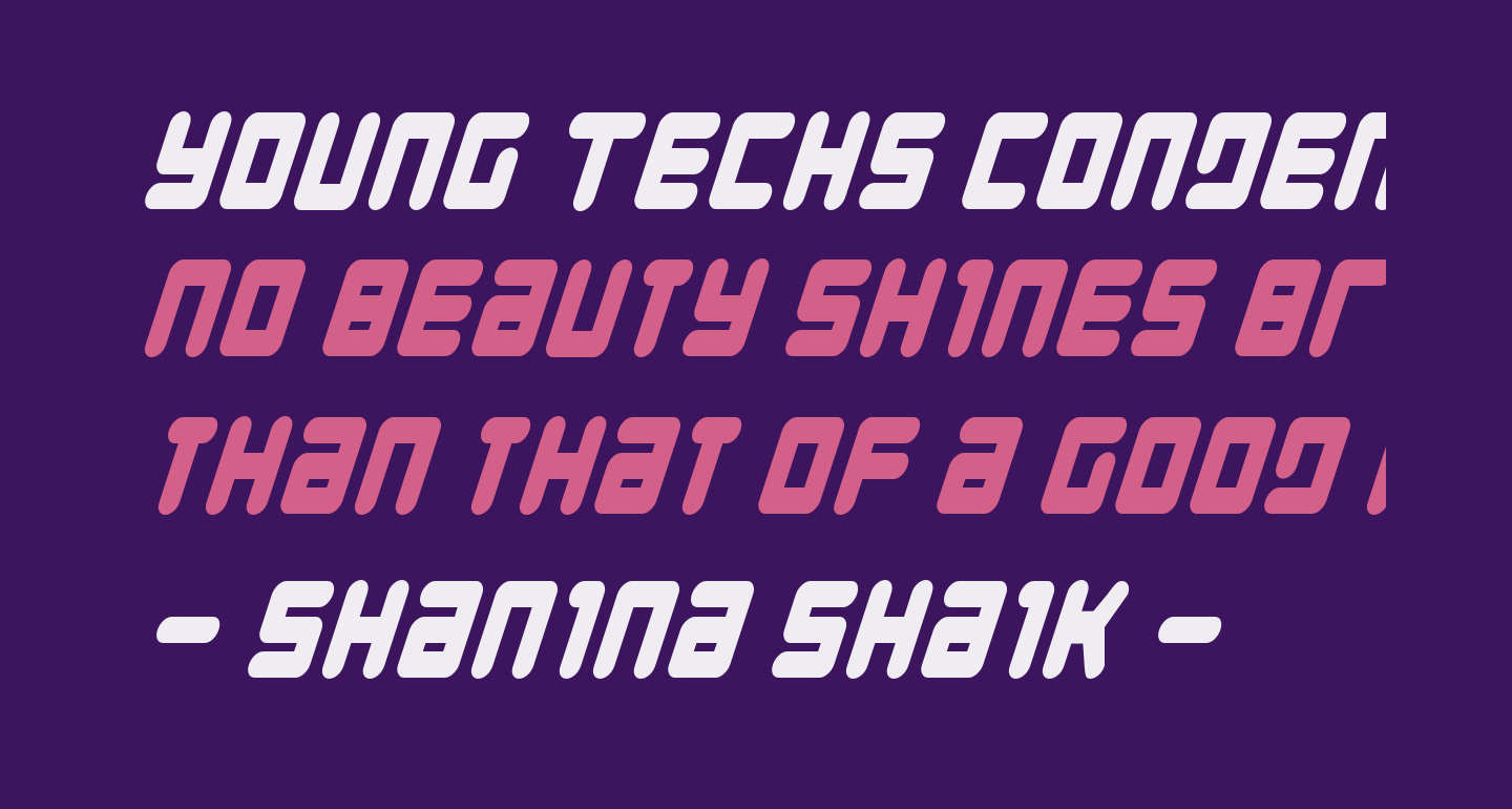 Young Techs Condensed Italic