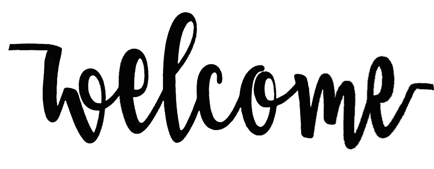 Welcome font please