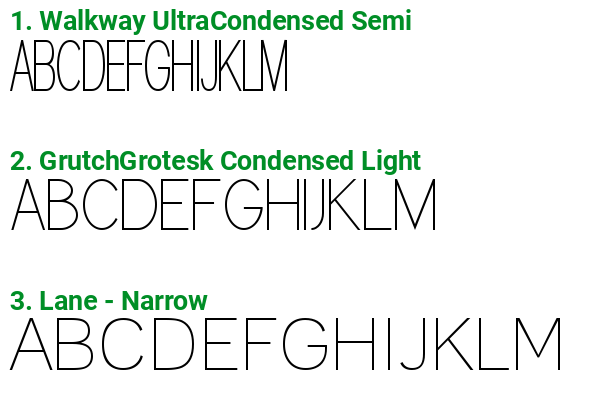 Fonts similar to Conto Compressed Black